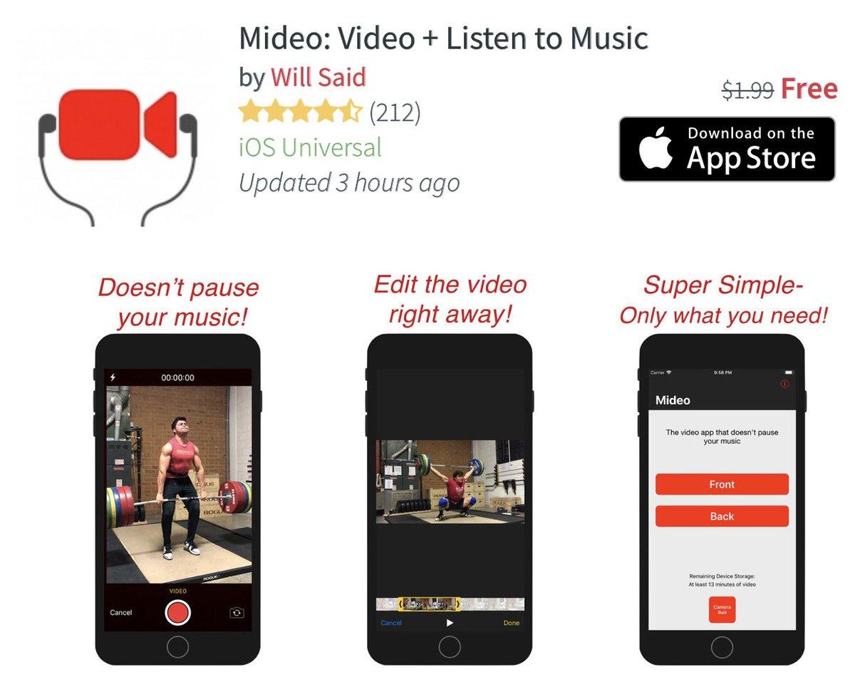 تحميل تطبيق Mideo: Video + Listen  المدفوع مجانا للايفون