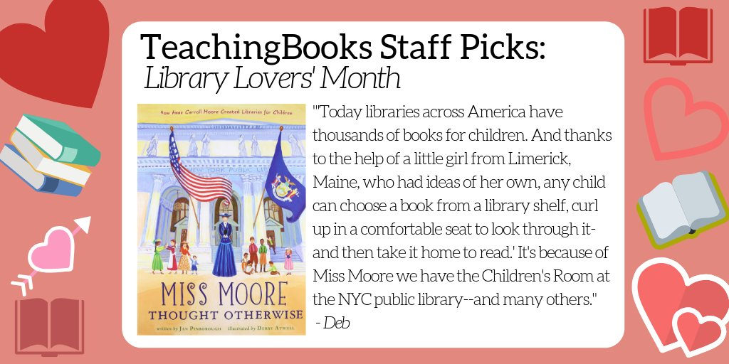 test Twitter Media - February is Library Lover's Month. What's your go-to book about libraries or book lovers? Here's a resource for a favorite of ours - https://t.co/iVePiGVRXL    @HMHKids @jpinborough https://t.co/RORb2jAyMZ