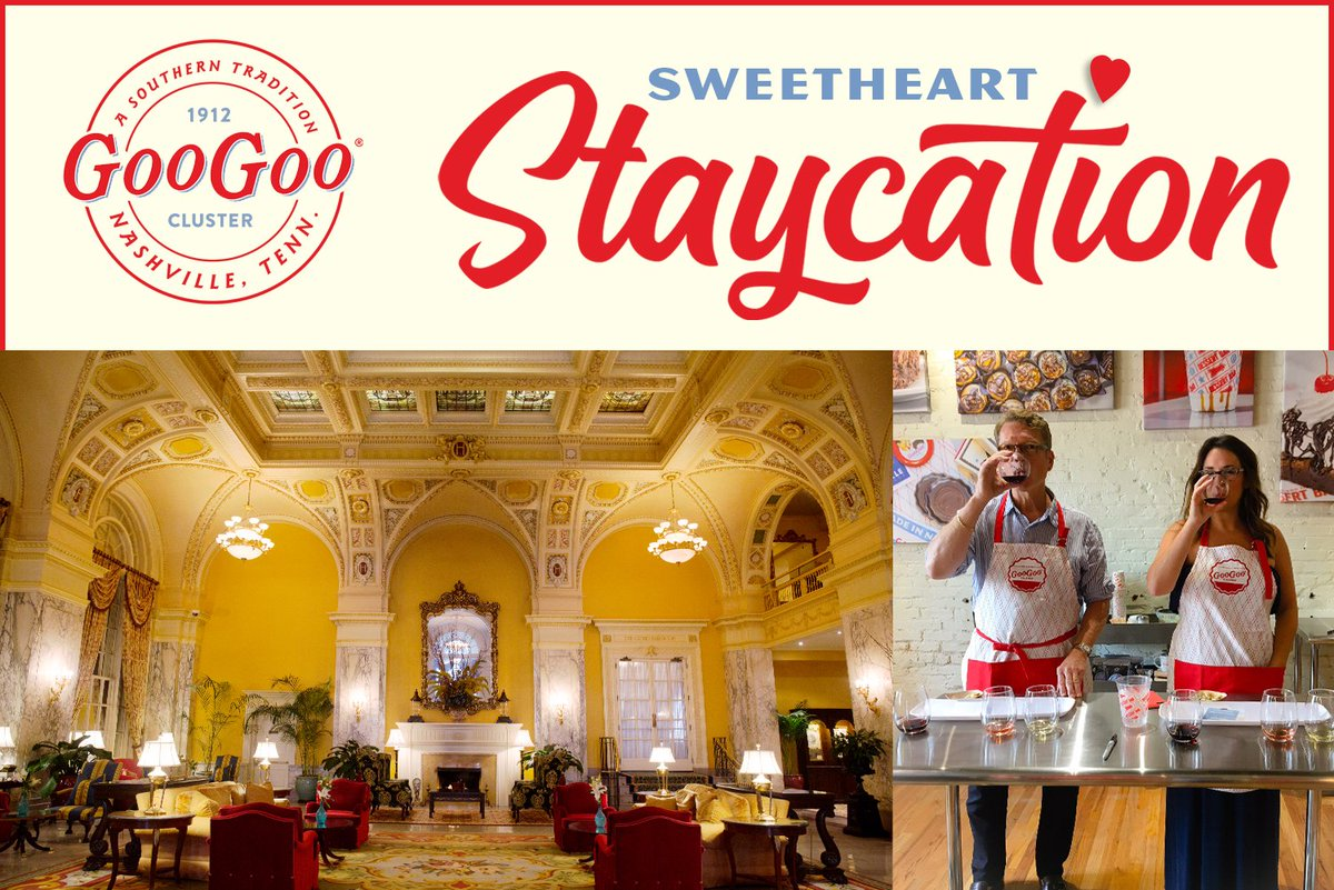 Enter to win an INCREDIBLE staycation in #Nashville this Valentine's Day! Includes a night at @HermitageHotel, @capitolgrille dining, and a chocolate class with us at @GooGooClusters... http://bit.ly/2GaXq7L