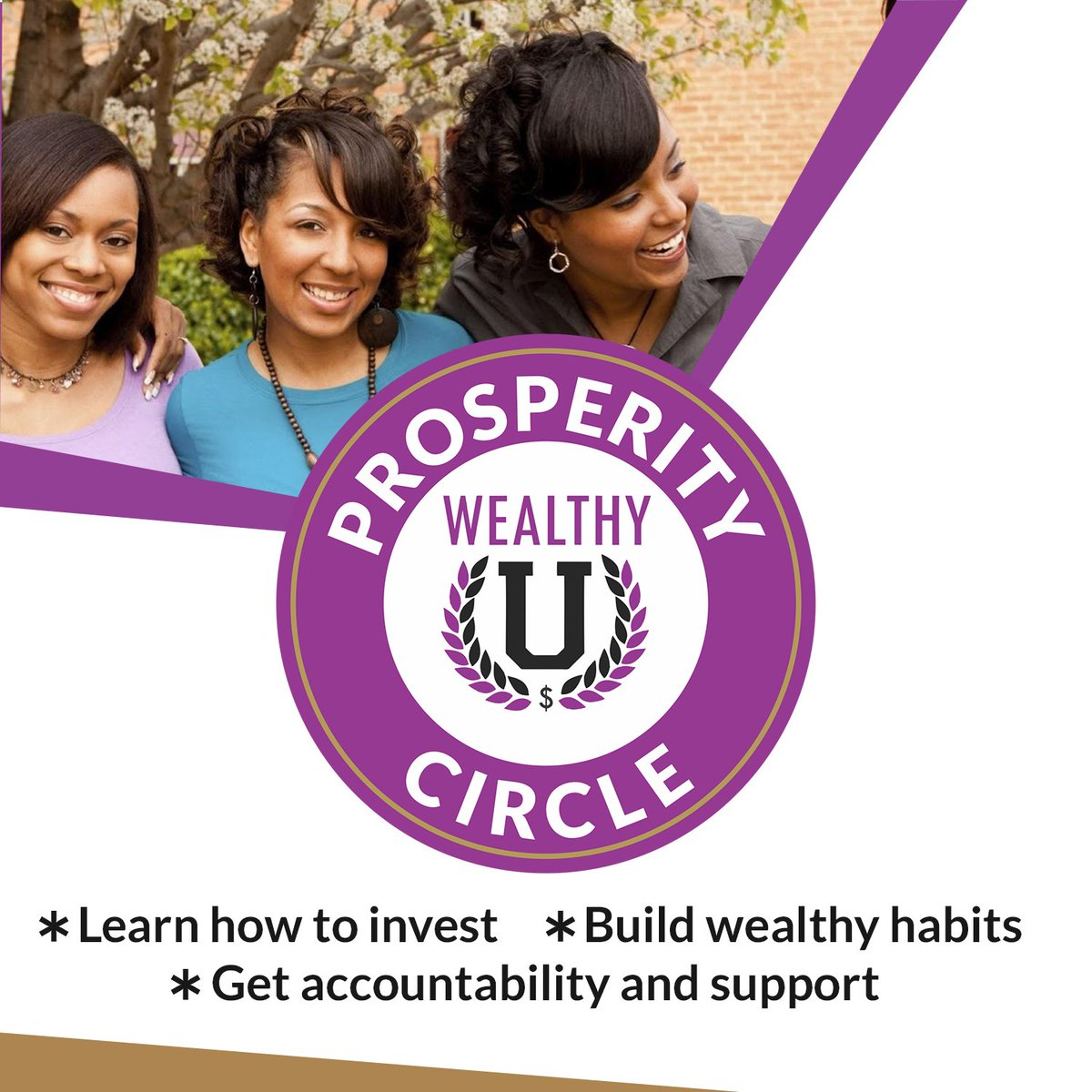Woo! Hoo! 50 Slots of the 200 are gone! The WealthyU Prosperity Circle membership site cost $1 to join:-)That's right - $1 dollar to join! Are you finally ready to overcome your financial fears, learn how to invest and build wealth? >>>http://bit.ly/wealthyuprosperity…