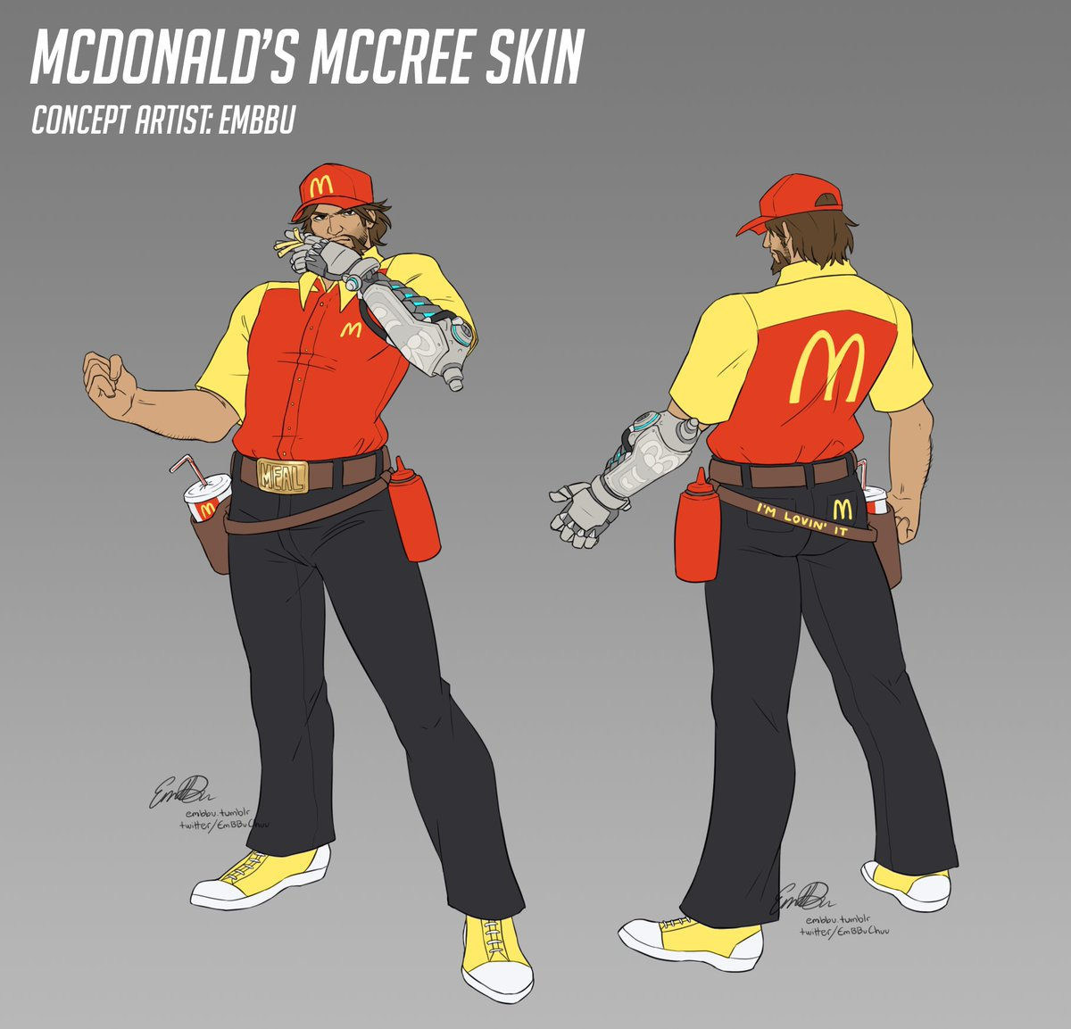 - McCree McDonald's skin -  A friend requested this one and I held a poll to decide his uniform!  I hope you're lovin' it! 🍔🍟