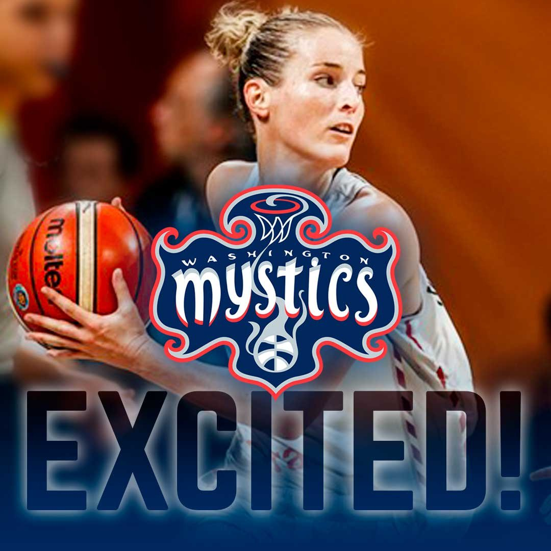 What a move! @MestdaghKim is joining the @WashMystics, say hello to the @WNBA ! We are so proud of you, Sniper, show the USA some of your magic 3-point shots 🙌 #sniperonthemove #kimmestdagh #wnba #atticus #leaveyourmark
