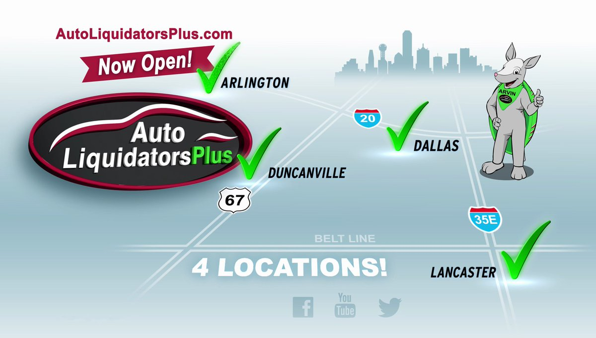 Auto Liquidators Dallas >> Auto Liquidators On Twitter We Have Four Locations So You
