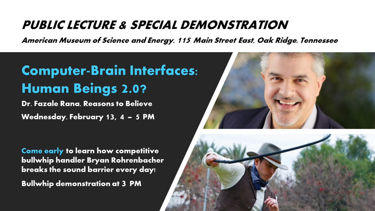 RTB lecture and demonstration next week at the American Museum of Science and Energy in Oak Ridge, TN! @RTB_FRana @RTB_Publicist