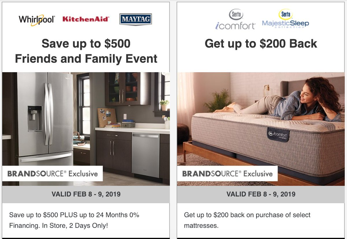 Save On Whirlpool Maytag Kitchenaid And Serta Brands D With Great Financing Offers Up To 48 Months Credit Roval