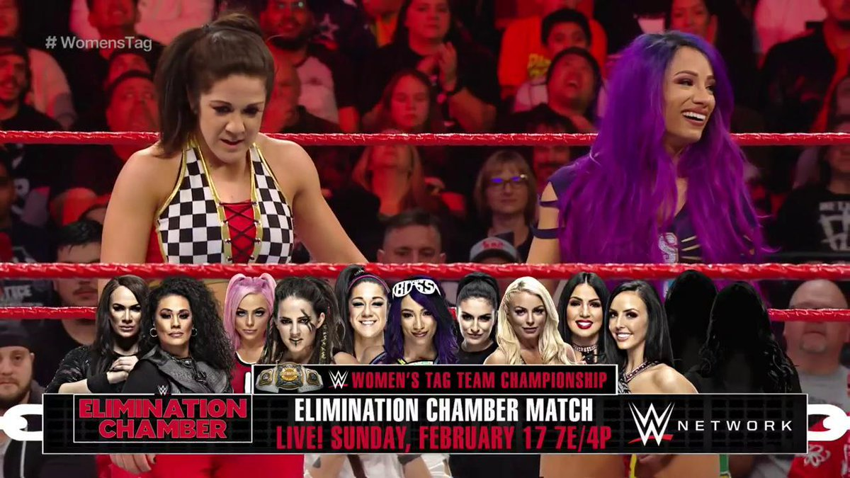 Sasha Banks And Bayley Added To Women's WWE Elimination Chamber Match