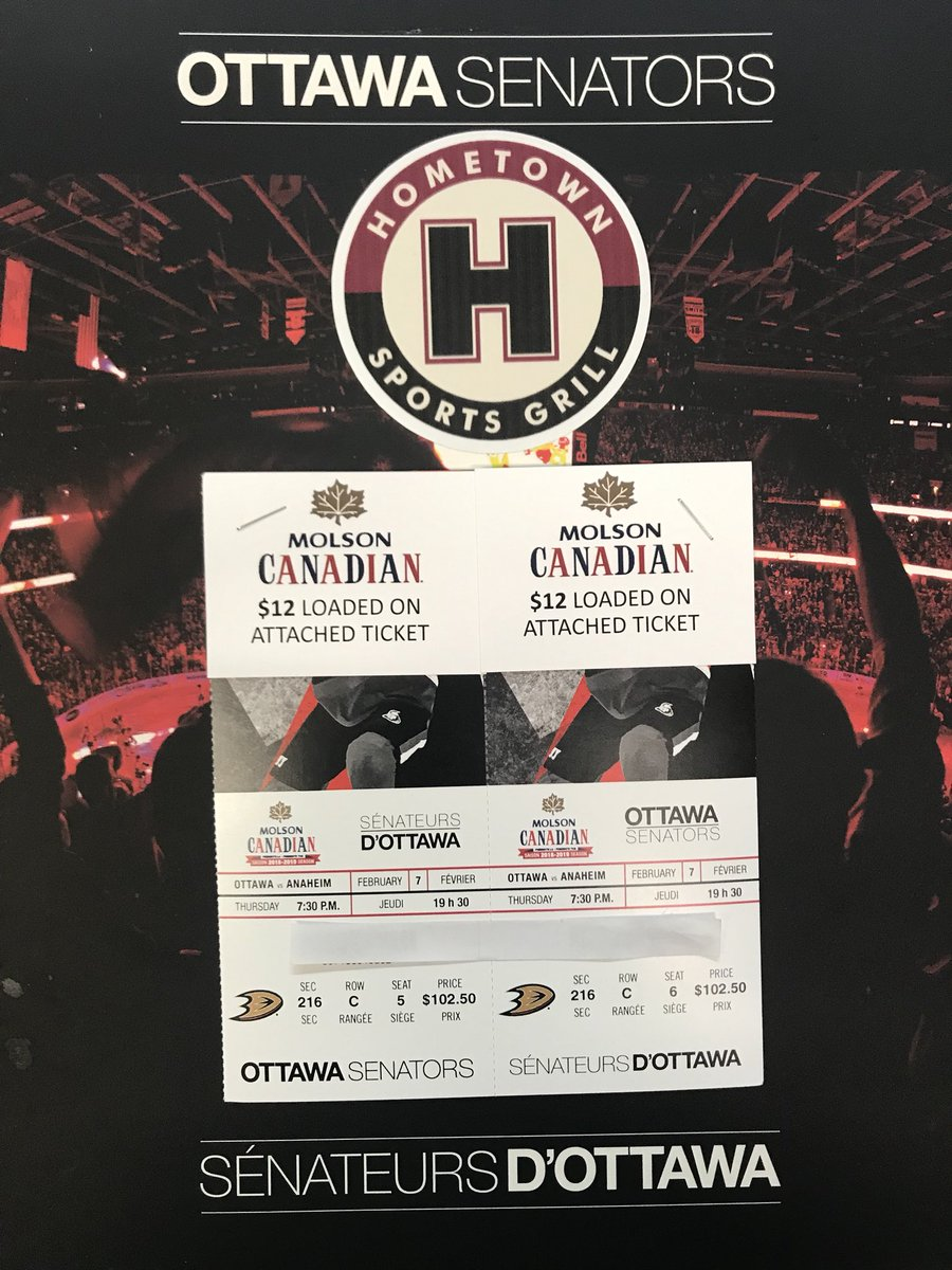 Follow these 3 steps for your chance to win tickets for Thursday's game - Sens vs Ducks! 🏒 Winner will be announced tomorrow night! 😉🎉  1. Go on Twitter and retweet! ✔️ 2. Follow us on Instagram OR like us on Facebook! ✔️ 3. Tag a friend you'd bring along! ✔️ #hometownsportsg