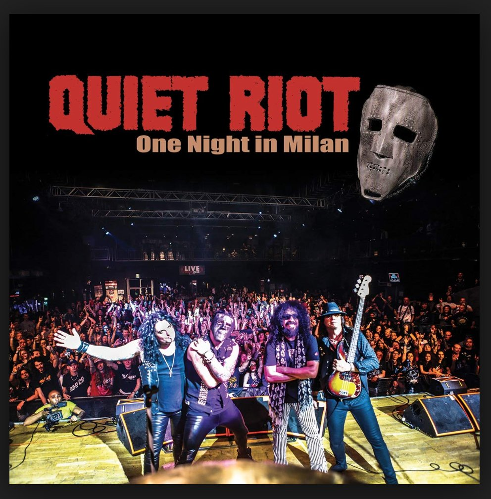 "QUIET RIOT ""ONE NIGHT IN MILAN"" LIVE! #37 IN THE BILLBOARD CURRENT HARD MUSIC ALBUMs CHART! #47 IN THE AMAZON BLU RAY RELEASES. #100 ON THE BILLBOARD INDIE CHARTS. CONGRATULATIONS TO THE BOYZ WHO MAKE THE QUIET RIOT NOIZE!"