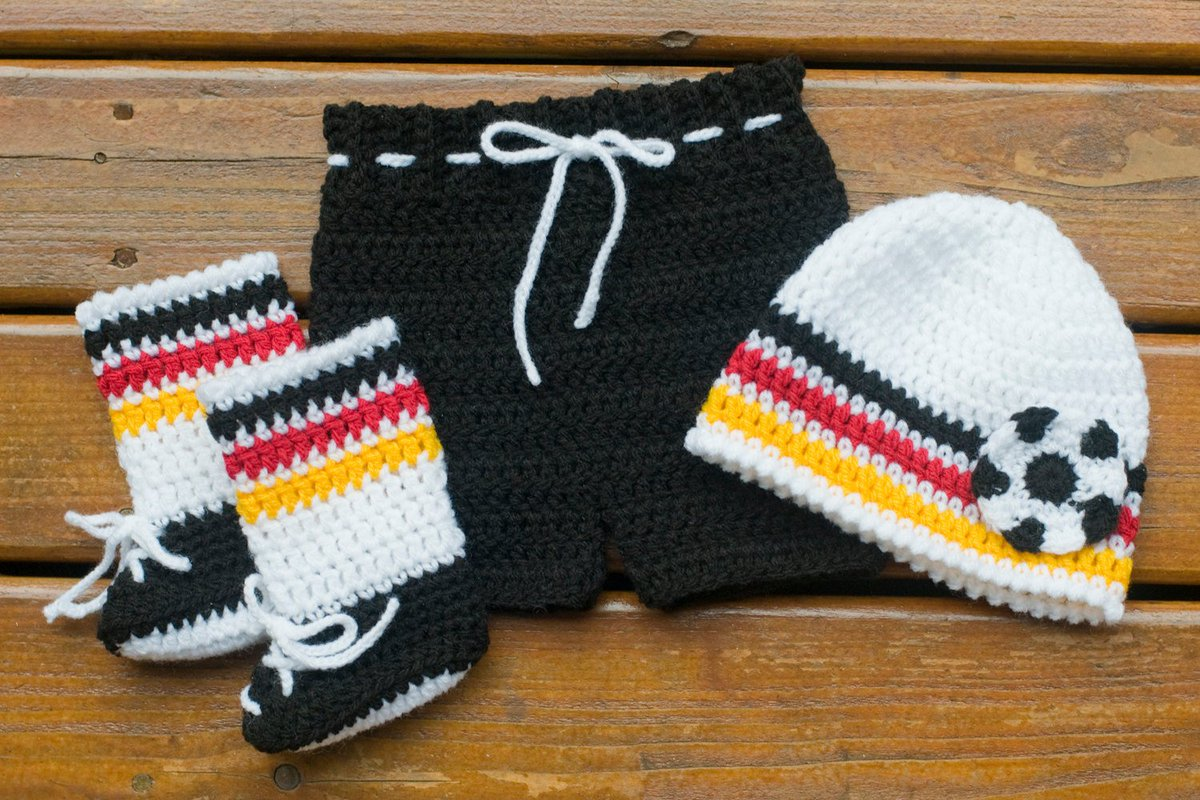ab13df635d5 Excited to share the latest addition to my shop  GERMANY SOCCER BABY Outfit  crocheted beanie hat