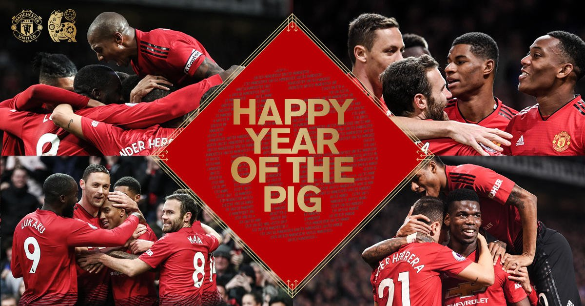 Wishing you a happy and prosperous Year of the Pig! 🐷 #MUFC