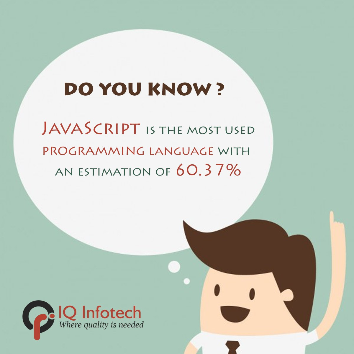 What The Fact !!!  #Quotes #doyouknow #didyouknow #whatthefact #IQInfotech #IQInfotechIndia #IQInfotechUSA #javascript #programming #codes #language #software