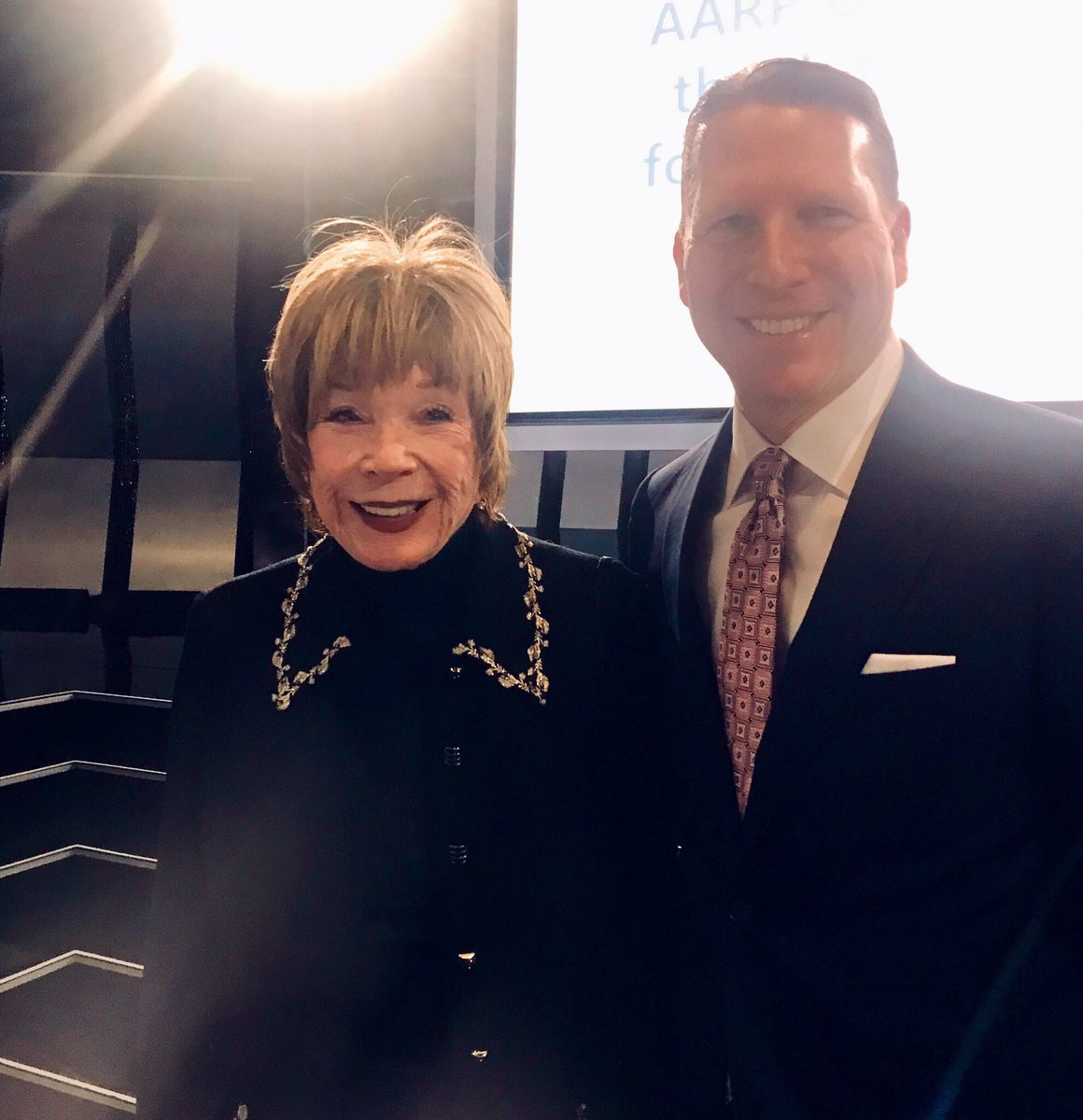 Great night celebrating #MoviesForGrownups with @AARP The Magazine. Congrats to Shirley MacLaine on her Career Achievment Award!
