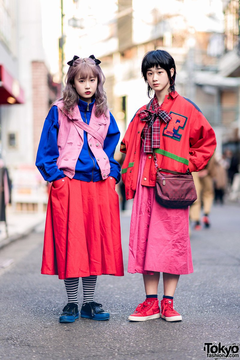 377f5a68072373 19 year old yuno and 16 year old maru on the street in harajuku wearing  colorful