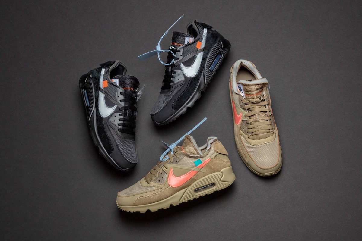 c9883958342638 ... OFF-WHITE x Nike Air Max 90 will be held Tuesday (2/5) in our Cambridge  location from 12:00-7:00PM and New York from 12:00-6:00PM • One Entry Per  ...