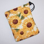 Image for the Tweet beginning: SUNFLOWERS Drawstring Padded Pipe Pouch