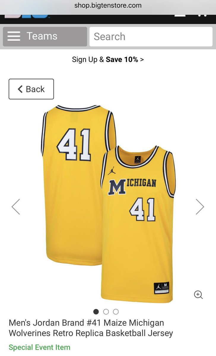 bde340803f1 ... 1989 throwback uniforms #Michigan will wear against Michigan State on  February 24th. The Big Ten conference store is selling the retail version  already.