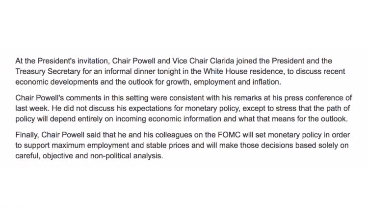 David Gura On Twitter It Is Good To Know What The Fed Chair Says