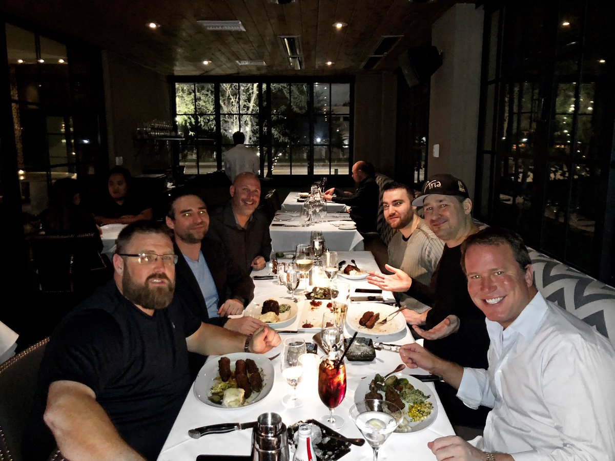 Having a delicious meal @steak44 with Kasey Thompson @phil_hellmuth Jason Otto @TimJamesBitch @Chad_Power