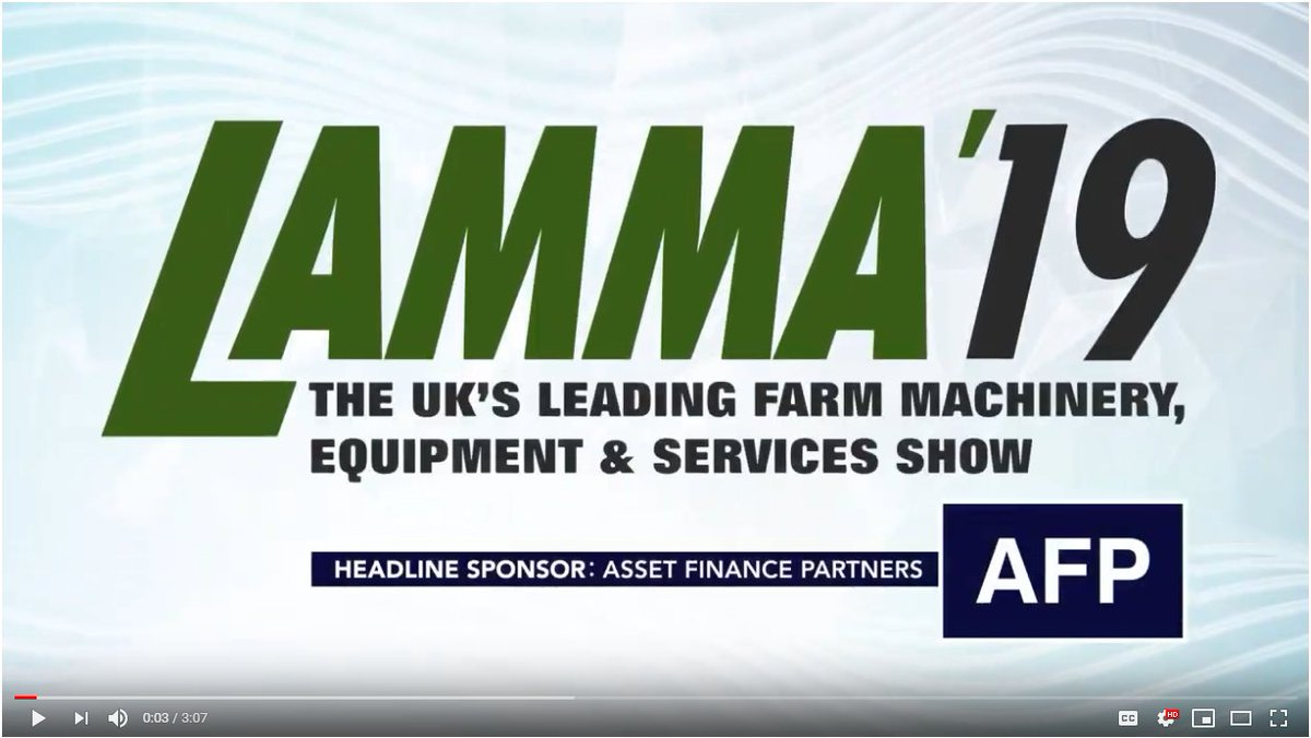 #LAMMA19 saw brand new launches, award-winning innovations, live demos and the very latest in #ag machinery. Want to see the highlights of our @thenec takeover? Click here https://www.youtube.com/watch?v=0NIrtwf5-yY … … Bring on #LAMMA20!