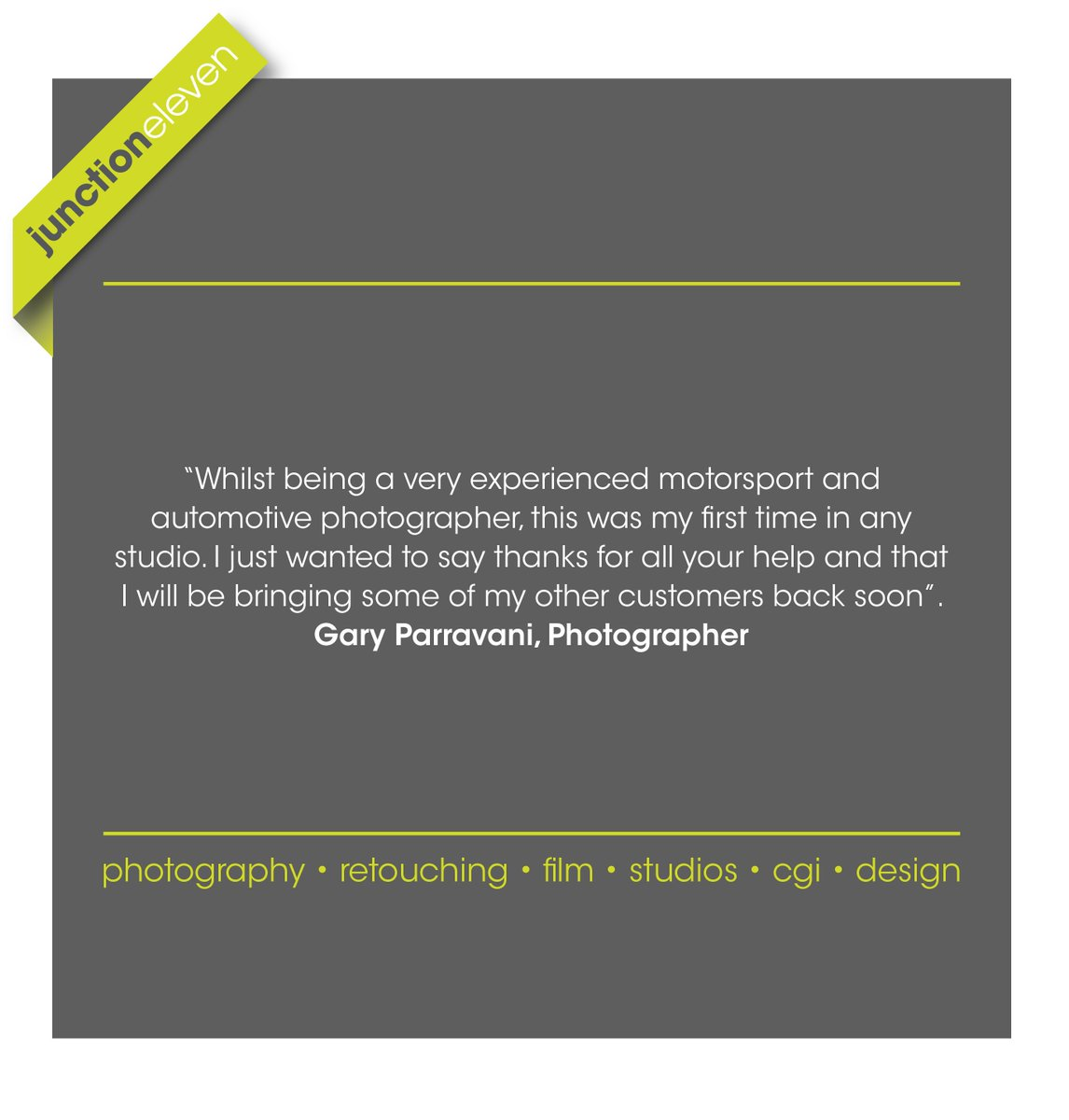 It really makes our day when we receive great feedback from a client!  #testimonialtuesdays #clientfeedback #studiohire #automotivestudio #carstudio #ukstudio #photographystudio #wehire