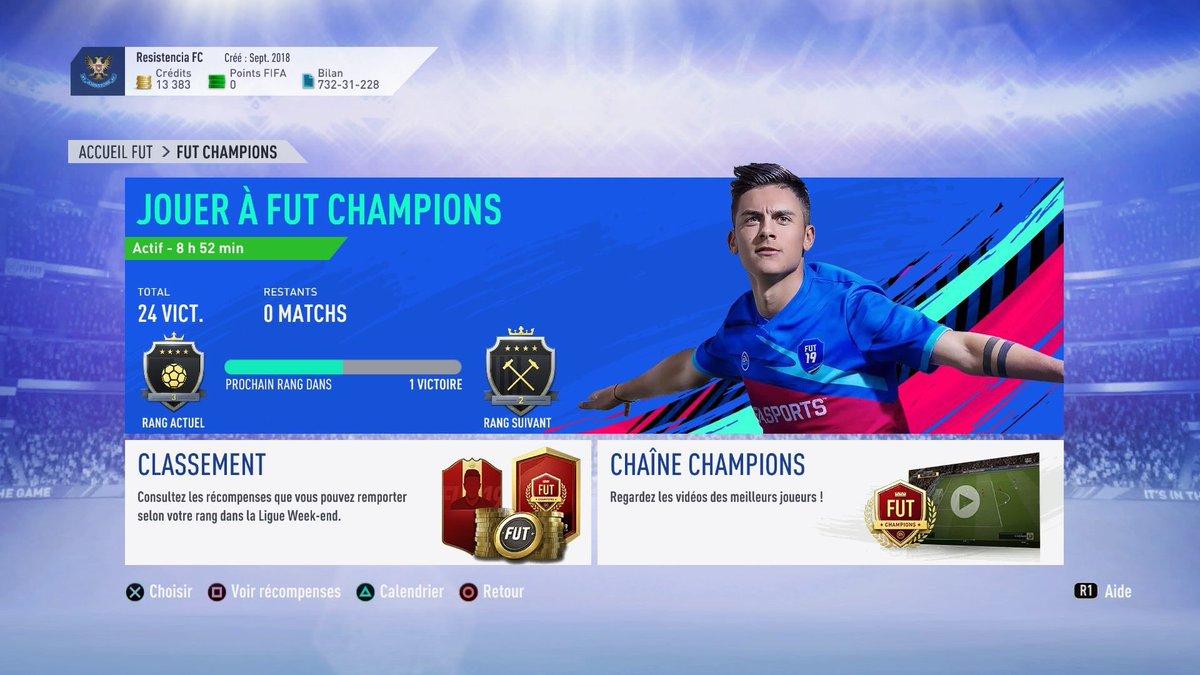 [#FUTChampions] Bonjours à tous, notre joueur FIFA termine donc ce FUT CHAMPIONS sur un totale de 24 victoire ! Il nous reviendra en force sur ce prochain FUT. Bien joué @lmDylaan