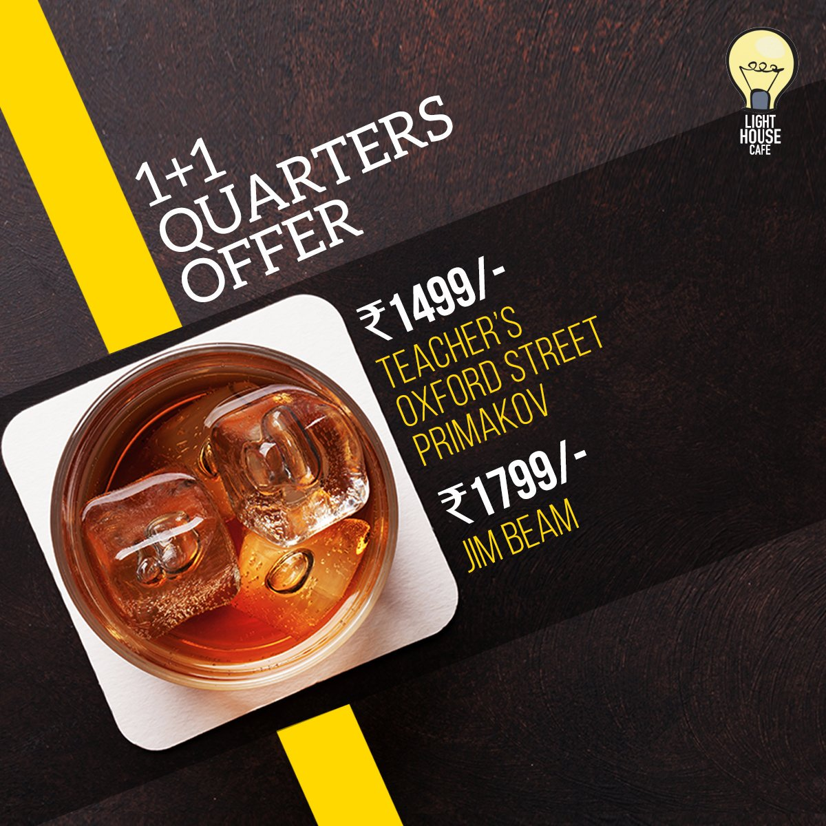 Be on the happy journey & get your week started with our 1 + 1 Quarters Offer only at Light House Cafe Mumbai  #LHC #Worli #Mumbai #Zomato #Blogpost #bloggers #Weekday #CurlyTales #Weekends #Thingstodo #Mumbaifoodie #Foodgasm #mumbaifood #indianblogger #dailyfoodfeed #blogspot