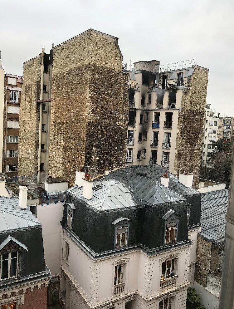 Incendie paris rue erlanger