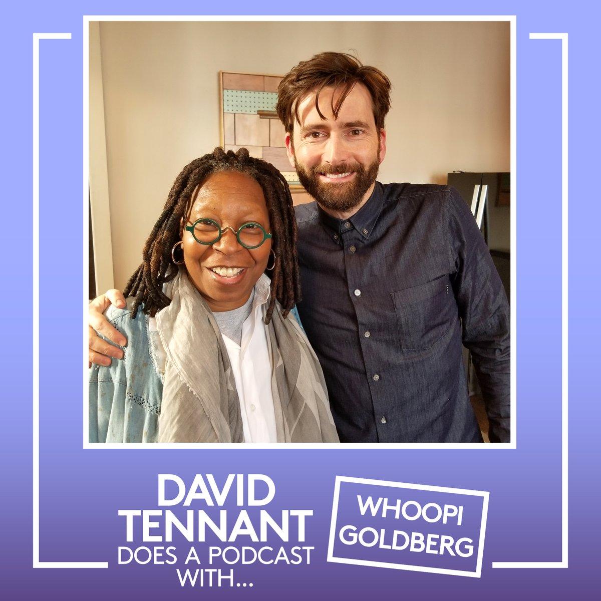 David Tennant with Whoopi Goldberg
