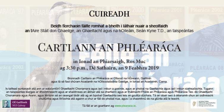 Beidh Taispeántas faoi Chartlann an Phléaráca ar siúl in Ionad an Phiarsaigh, Ros Muc, Dé Sathairn, 09/02 ar 3:30pm. Fáilte roimh chách!