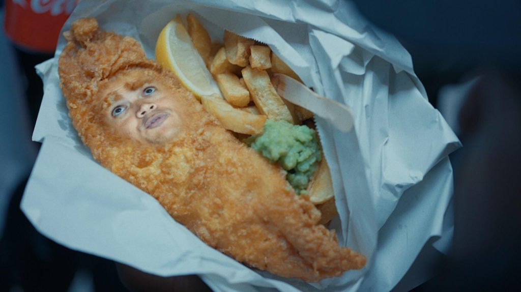 Just another day in the office… Fish & Chips, anyone? 🤣 #WhereEveryonePlays #Ad