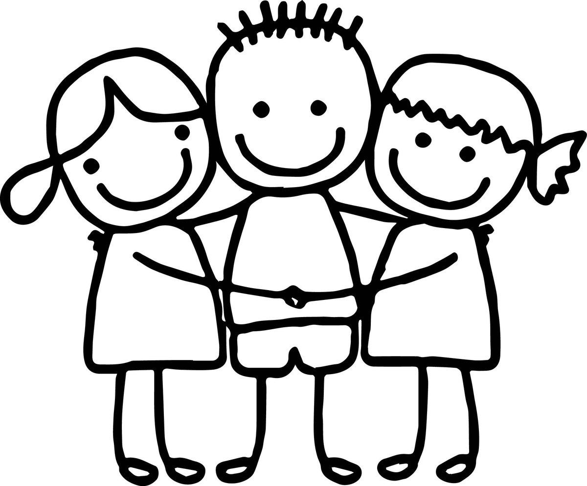 Человечки черно-белые картинки для детей