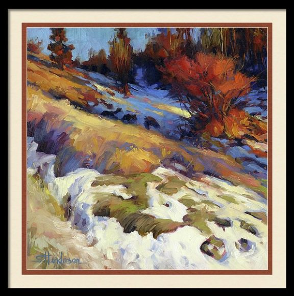Winter does not last forever. Spring is on its way, and she always, eventually, arrives. Emergence, framed art print from Steve Henderson Collections -- http://bit.ly/2LRIIF6 #winter #transition #spring #country #change #hope