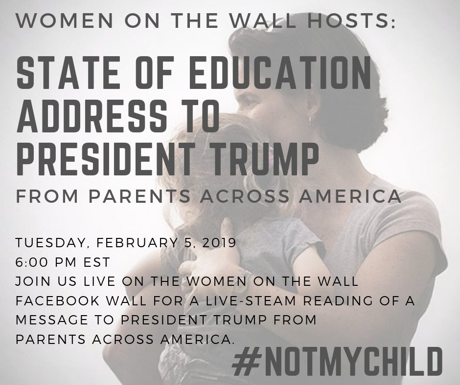 @michellemalkin @TuckerCarlson Join the #NotMyCHILD movement tonight We have an important message to give to @realDonaldTrump from Parents Across America! Be ready for instructions to take action. Protect Babies in the Womb and Children in the Classroom. #SOTU #StopEdTech