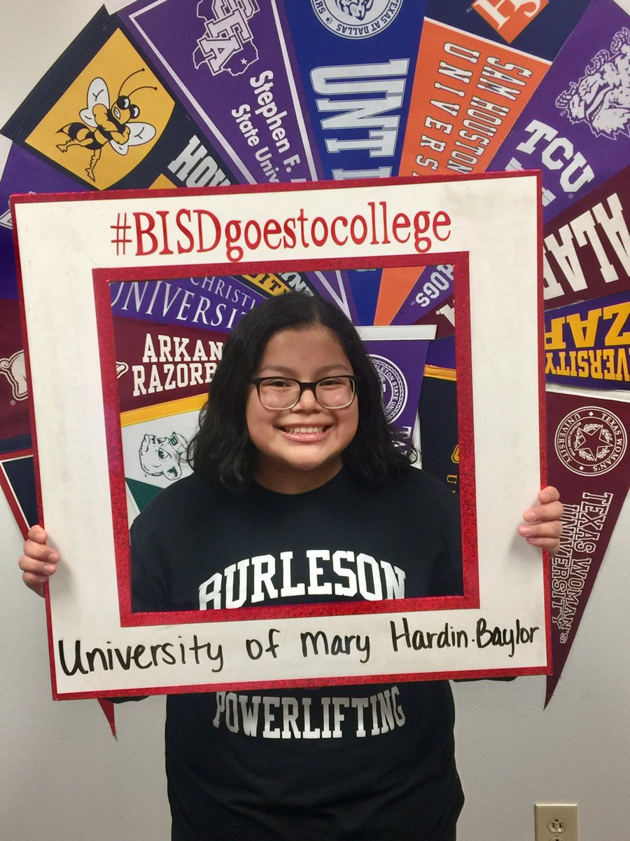 Congratulations to Natalie Marion on being accepted to the University of Mary Hardin-Baylor! #Elkfamily #BISDGoestoCollege @bhsElkSeniors @BHSElks @UMHB