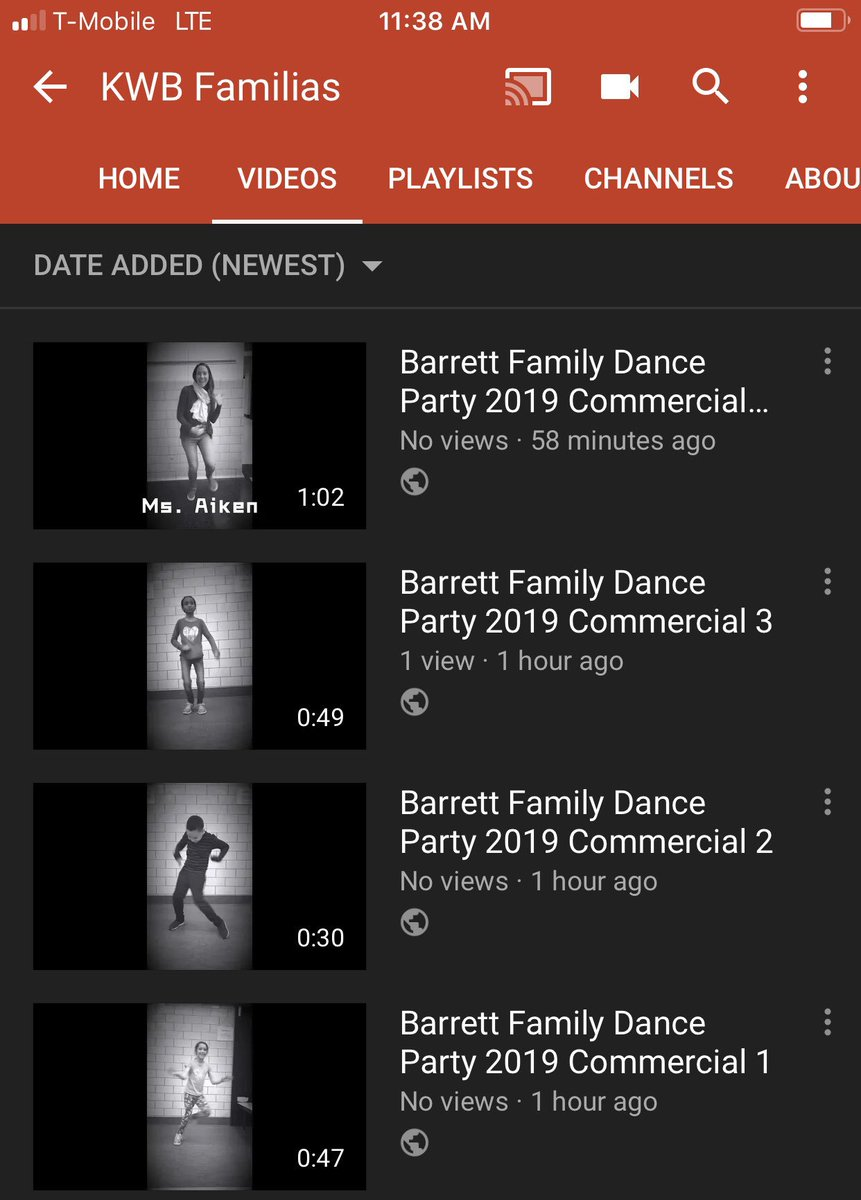 If you are enjoying all of these dance videos that <a target='_blank' href='http://twitter.com/KWBdicabus'>@KWBdicabus</a> &amp; I have been making to promote the <a target='_blank' href='http://twitter.com/BarrettAPS'>@BarrettAPS</a> Family Dance Party then make sure you make way over to my YouTube Channel where you can view the videos as they are uploaded. Link: <a target='_blank' href='https://t.co/tXkzxLv187'>https://t.co/tXkzxLv187</a> <a target='_blank' href='https://t.co/oST33EO4NC'>https://t.co/oST33EO4NC</a>