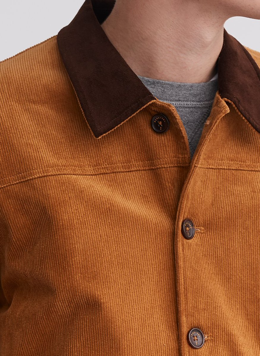 Corduroy and Moleskin (incidentally the name of my two cats)... New spring outerwear now in bit.ly/PercivalAtlas