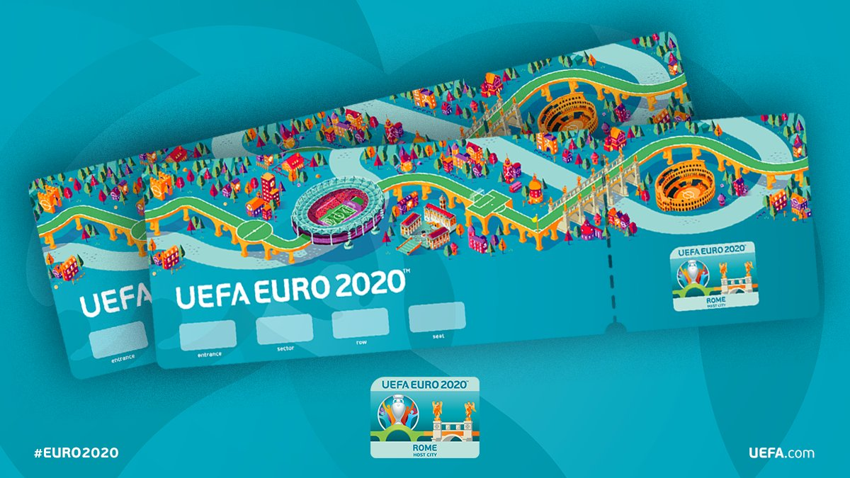 Per un #evento di tale portata è bene muoversi in tempo! Inizia a #prenotare i tuoi biglietti per UEFA @EURO2020. Appuntamento a #Roma per l'inaugurazione dei nuovi Campionati Europei di #Calcio #UEFA. Prenota il tuo biglietto: http://bit.ly/PrenotaEuro2020 #euro2020 #romaeuro2020