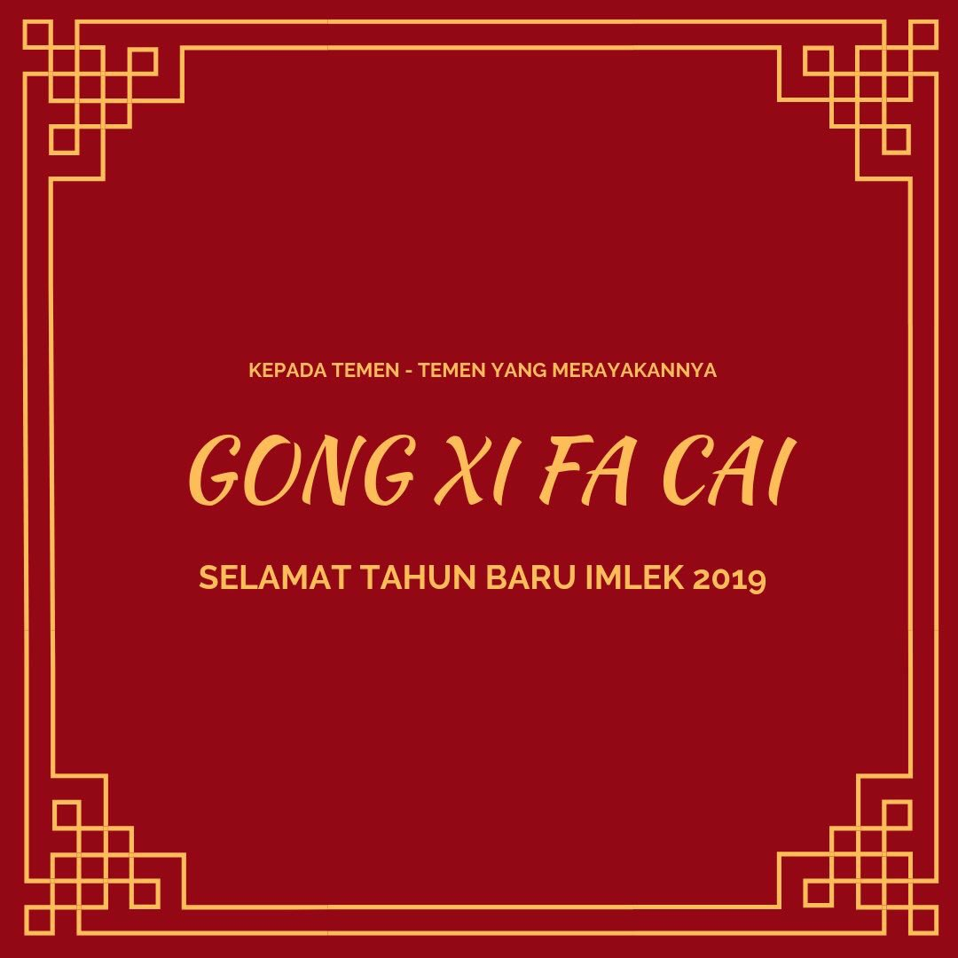 Selamat Tahun Baru #Imlek    Gong Xi Fa Cai bagi yang merayakan. ❤️ https://t.co/d6eYhHqenf