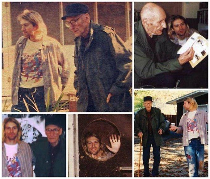 William Burroughs & Kurt Cobain.  Happy 105th Birthday Old Bull Lee!