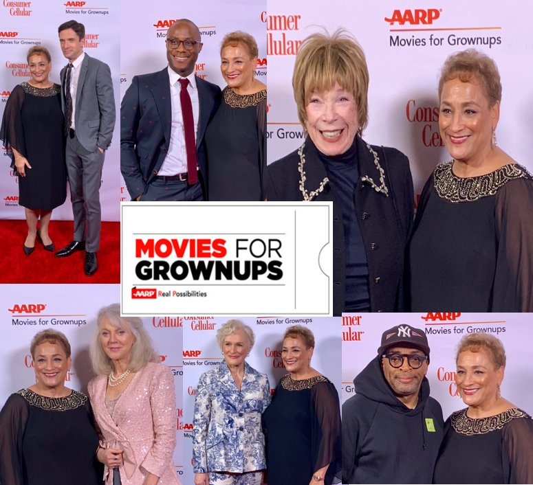 Thanks to everyone who was part of @AARP's #MoviesForGrownUps Awards. What a night!