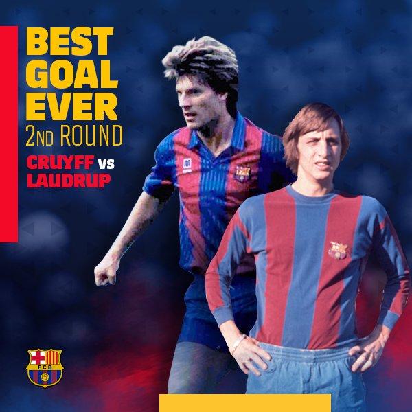 ⚽ #BarçaBestGoalEver 🎩 ¡Dos futbolistas con muchísima clase! 🔥 Cruyff 🆚 Laudrup ¡Vota! 🎥👉 https://t.co/ceoaUnC3C5