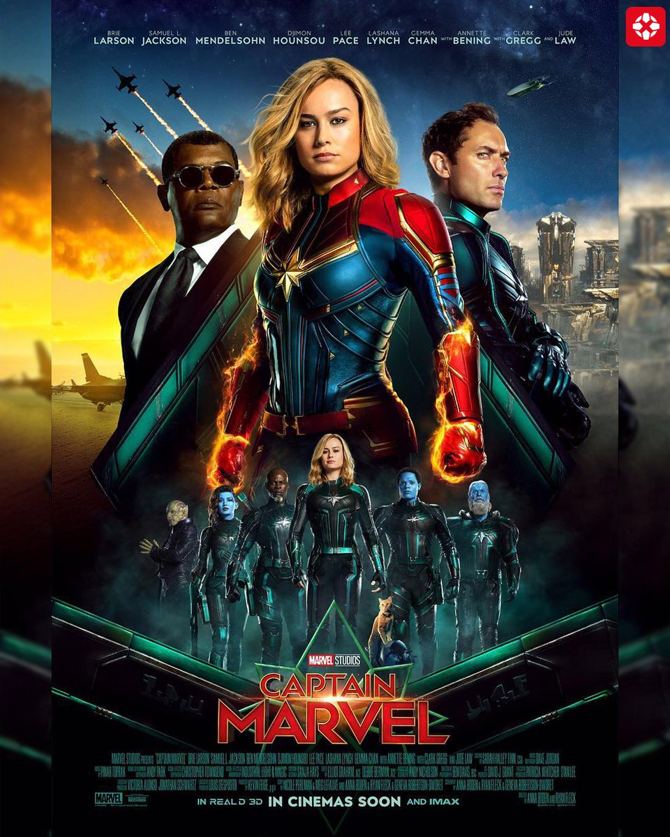 Check out this stellar new international poster for Captain Marvel!