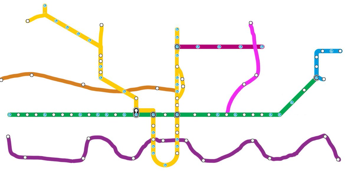 Fantasy Toronto Subway Map.Daniel Rotsztain On Twitter Meslin The Relief Line Is There