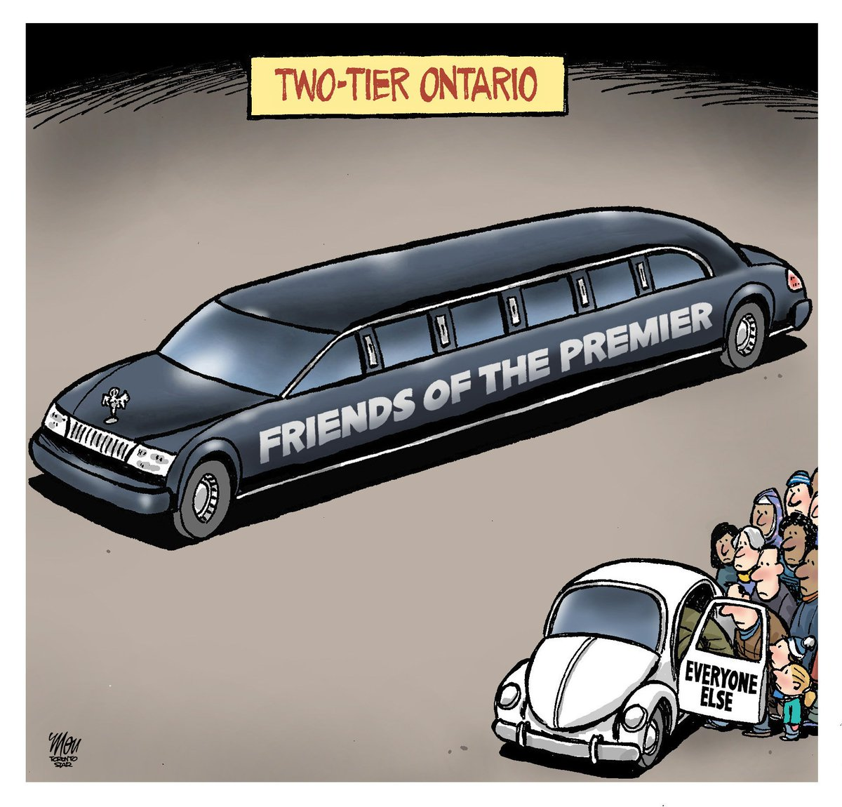 Here's Wednesday's #DougFord cartoon in @TorontoStar #ONPoli