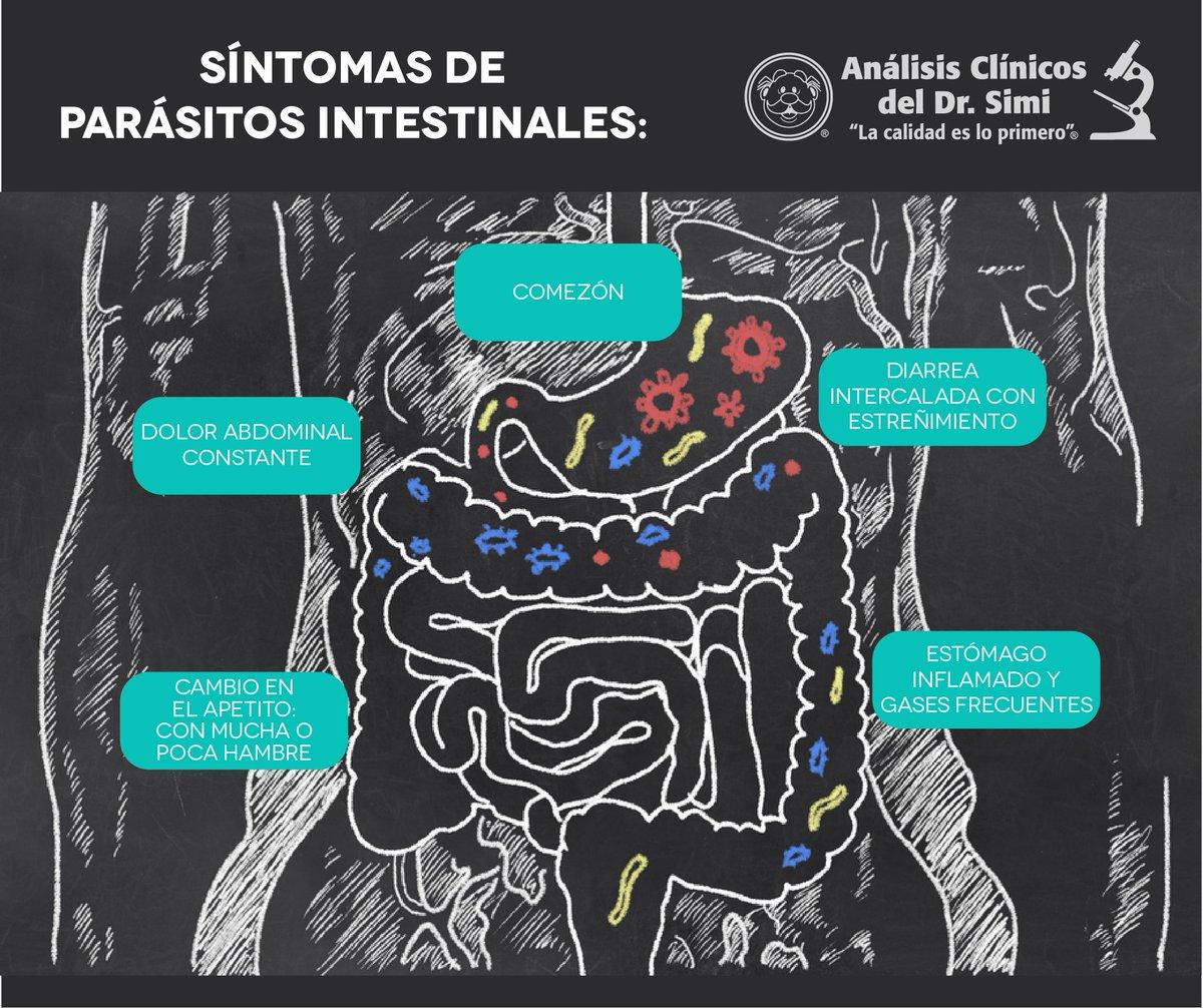 parasitos y gases intestinales