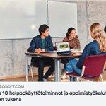 Image for the Tweet beginning: 6.2.2019 klo 15-16 Maksuton @MicrosoftEDU