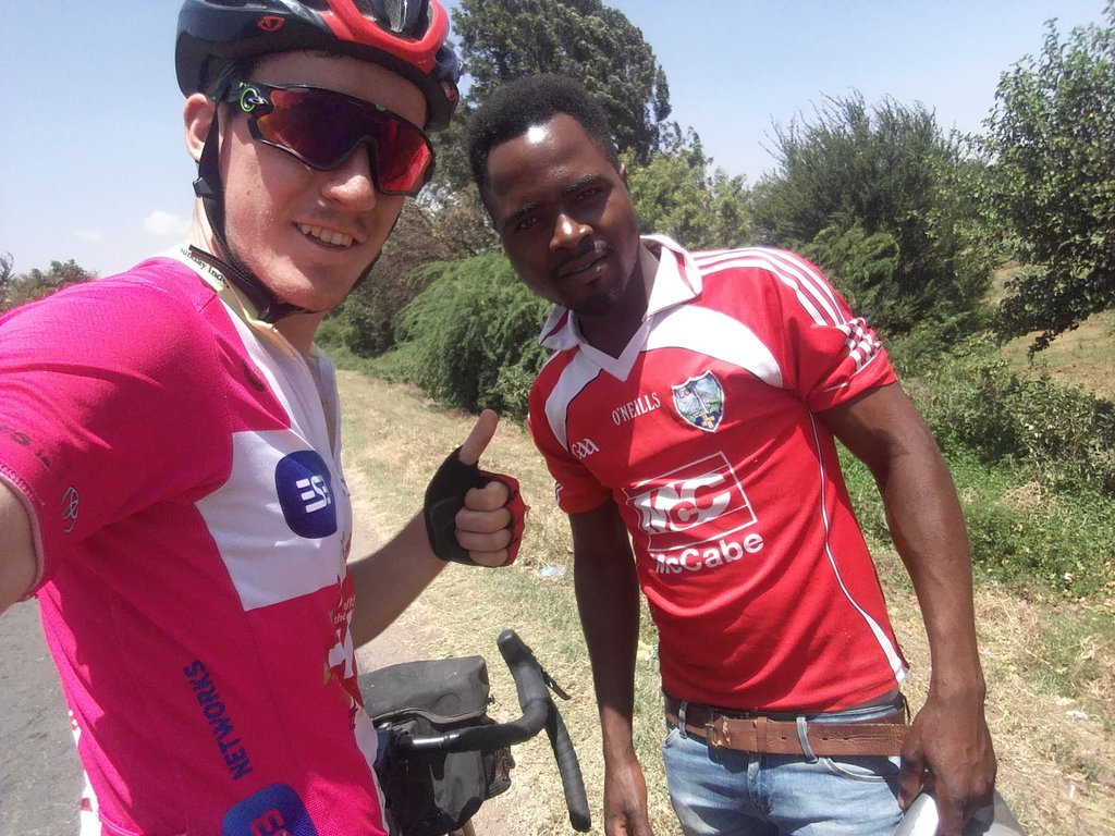 So today I passed a young lad wearing... A @louthgaa jersey! W/ further info from @DannyRock855 - his name is Goodluck Amandi, had a trial w/ @naomhmairtin. I met him today in the middle of nowhere, here in Tanzania. A feckin Louth jersey, in Tanzania! Love it 😂👊🇮🇪 #ardorothar