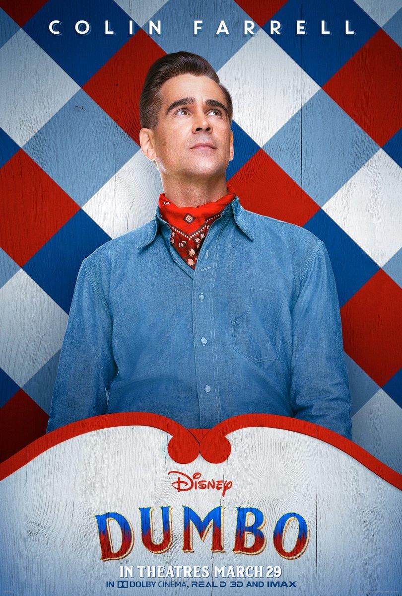 Colin Farrell is Holt Farrier. #Dumbo