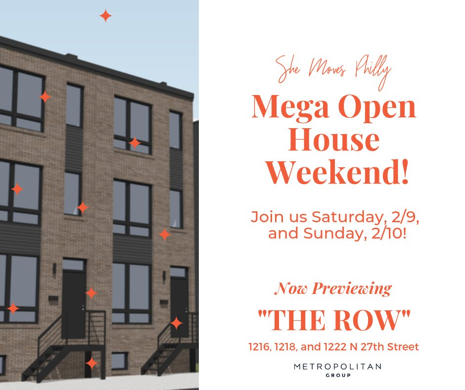 """Hey friends! 📣📣📣 1216 and 1218 N 27th Street are near complete! Join us this Saturday and Sunday for a mega open house weekend and get a special preview of """"The Row,"""" a luxury development in #Brewerytown by @MetGrpPhilly https://www.facebook.com/events/305400633653358/…"""