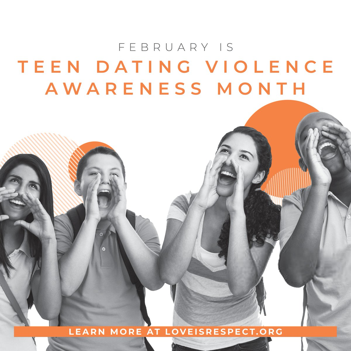 Did you know that February is Teen Dating Violence Awareness Month?  #HuddleUp for #HealthyRelationships during #TeenDVMonth to show the world what healthy relationships look like. Head to @loveisrespect for more info on how your voice can be a tool for change!